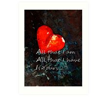 My All - Love Romantic Art Art Print