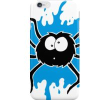 Spider Splat - Blue iPhone Case/Skin