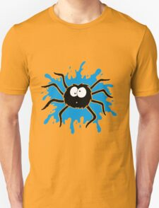 Spider Splat - Blue Unisex T-Shirt
