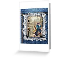 High fashion in front of Anton Pieck's painting. Greeting Card