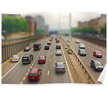 Miniature Motorway Poster