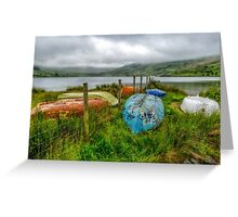 Cwmystradllyn Boats Greeting Card