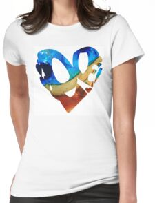 Love 6 - Heart Hearts Romantic Art Womens Fitted T-Shirt
