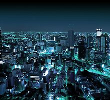 Osaka City by Night by Atanas Bozhikov Nasko