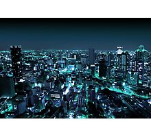 Osaka City by Night Photographic Print