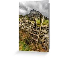 View Of Tryfan  Greeting Card