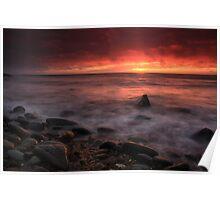 Llwyngwril sunset. Poster