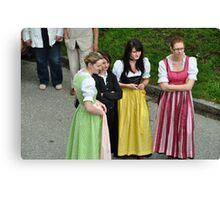 Bavarian People III Canvas Print