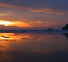 Cornwall: Polzeath Beach, Awash With Colour by Rob Parsons