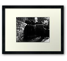gothic waters Framed Print