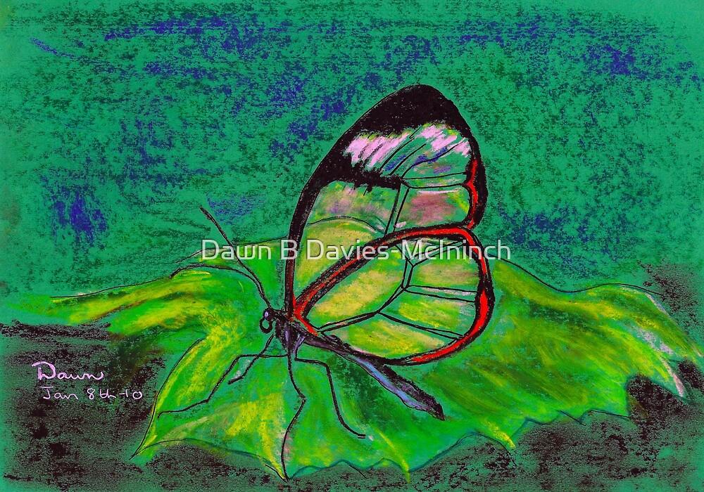 Clearwing on Green by Dawn B Davies-McIninch