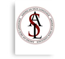 American Sign Language Logo Canvas Print