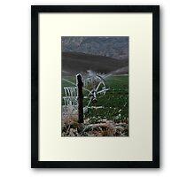 Icy Fields - Utah Highway 89 Framed Print
