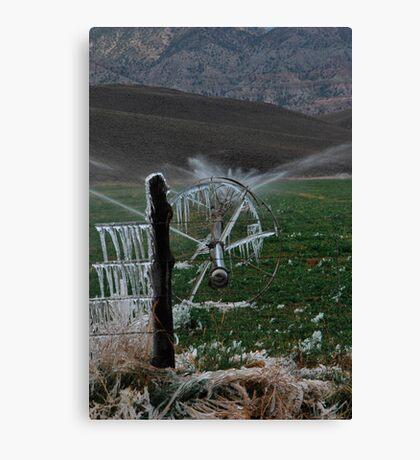 Icy Fields - Utah Highway 89 Canvas Print