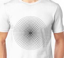 Halftone Circle - Black Unisex T-Shirt