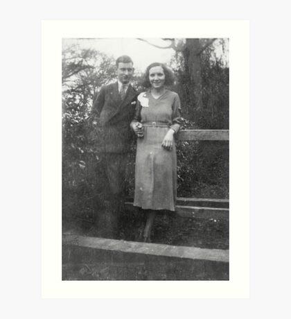 1935 mum & dad Art Print