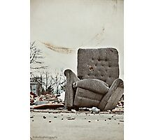 Abandoned Comfort Photographic Print