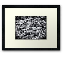 ©NS Drops Abstract IIA Monochromatic. Framed Print