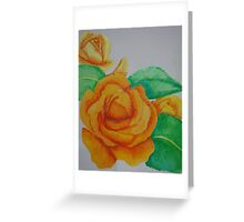 Yellow Rose,hand painted Greeting Card