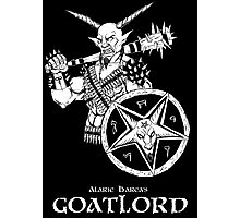 Goatlord with a bat Photographic Print