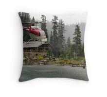 Golden Bullseye Throw Pillow