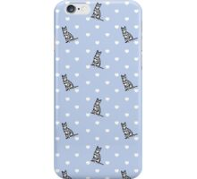 Cat Hearts - Light Blue iPhone Case/Skin