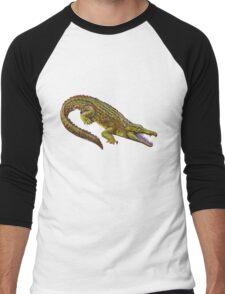 Vintage Crocodile Illustration Men's Baseball ¾ T-Shirt