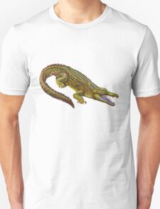Vintage Crocodile Illustration T-Shirt