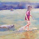 Girl in the shallows, Yeerung by Christine Lacreole