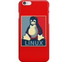 Linux tux penguin obama poster iPhone Case/Skin
