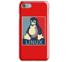 Linux tux penguin obama poster iPhone Case/Skin