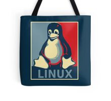Linux tux penguin obama poster Tote Bag