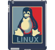 Linux tux penguin obama poster iPad Case/Skin