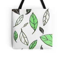 Gliding Leaves Green/Black Tote Bag