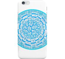 retro circle aqua iPhone Case/Skin