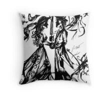 Dancing on the world Throw Pillow