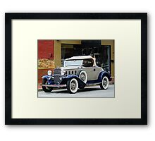 """""""A Sporty Coupe From Another Era In Time"""" Framed Print"""