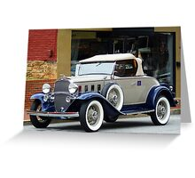 """""""A Sporty Coupe From Another Era In Time"""" Greeting Card"""