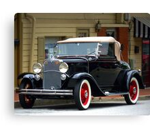 """A Classic Gem Of An Automobile Out Of The Past"" Canvas Print"
