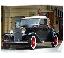 """A Classic Gem Of An Automobile Out Of The Past"" Poster"