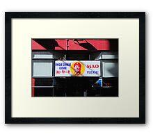 Mao Chinese Restuarant Melbourne Framed Print