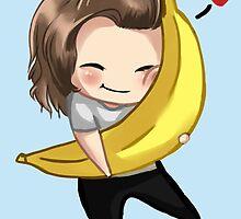 Harry Hugging A Banana by AnisaJayy