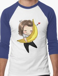 Harry Hugging A Banana Men's Baseball ¾ T-Shirt