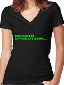 Digimon Tamers Matrix Evolution (authentic version) Women's Fitted V-Neck T-Shirt