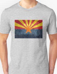 State flag of Arizona, with vintage retro style treatment Unisex T-Shirt