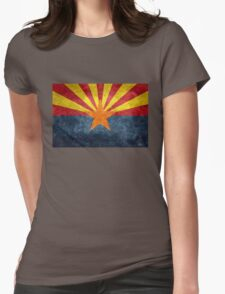 State flag of Arizona, with vintage retro style treatment Womens Fitted T-Shirt