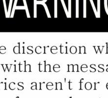 Twenty One Pilots Message Man Warning Sticker