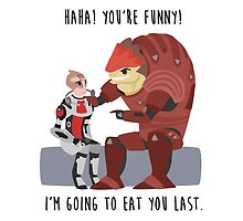 Mass Effect - Wrex and Mordin by chocominto