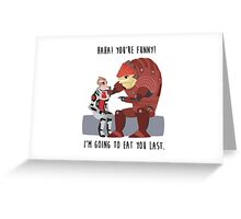 Mass Effect - Wrex and Mordin Greeting Card