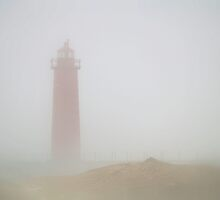 Lighthouse in the Fog by BarbL